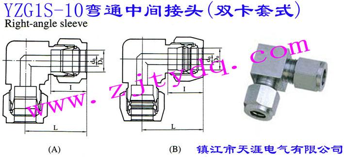 YZG1S-10弯通中间接头(双卡套式)